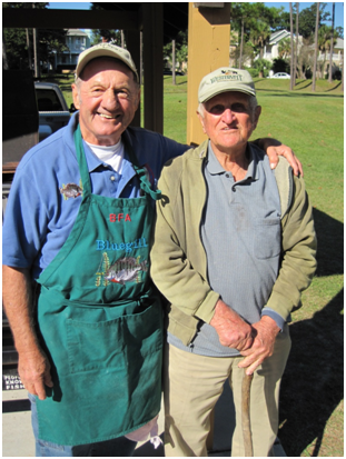Bream Fishermen Charles A Lowery and JD Brown at Nov 2010 Fish Fry